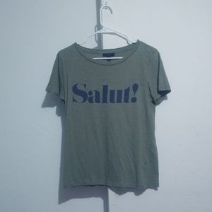 J.crew army green Salut t shirt Excellent pre owne